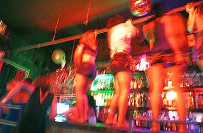 Sisowath Quay go-go girls