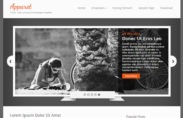 Fresh Clean Blogger Template