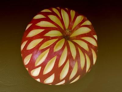 amazing apple fruit carving art