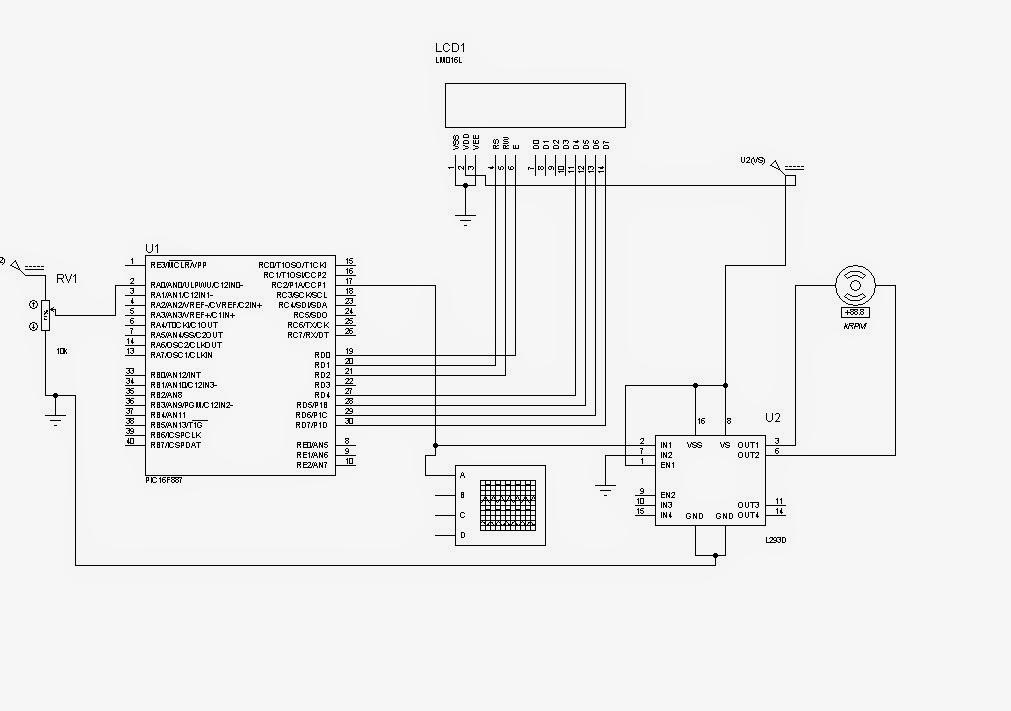 control de velocidad pwm de un motor dc usando pic16f887
