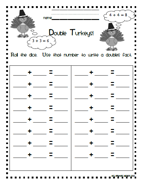 math worksheet : doubles math facts worksheets  educational math activities : Doubles Math Worksheet