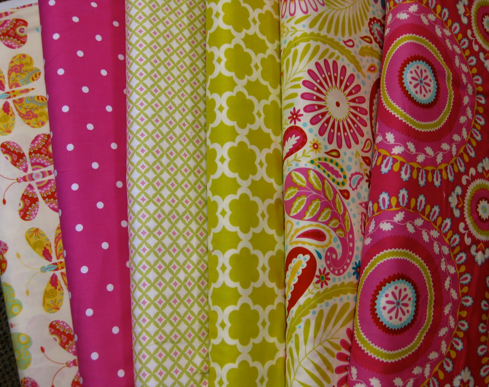 ... pink polka dot is a Maywood, Going on Thirty. The remaining fabrics