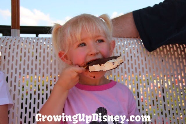 Growing Up Disney, Walt Disney World, girl enjoying ice cream at WDW
