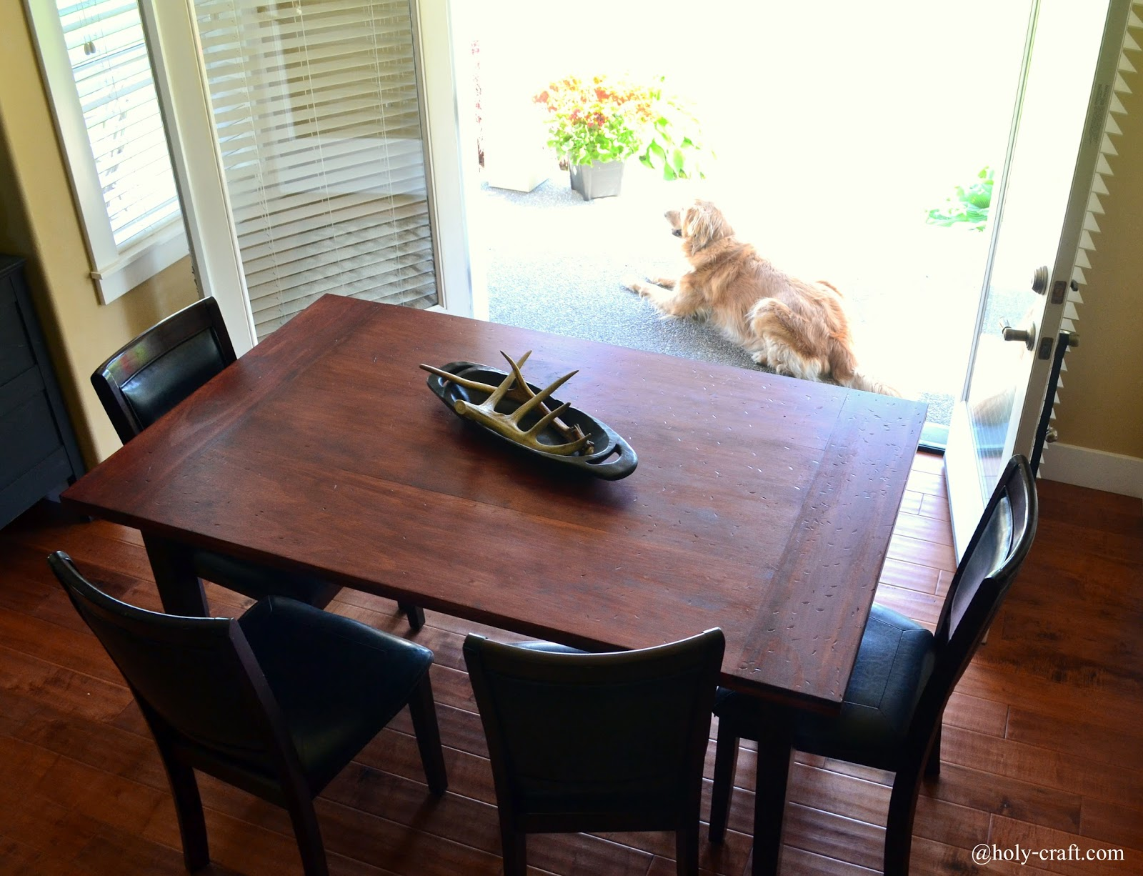 Easy DIY Planked Table Top Cover For Your Existing Table   Rachel Teodoro