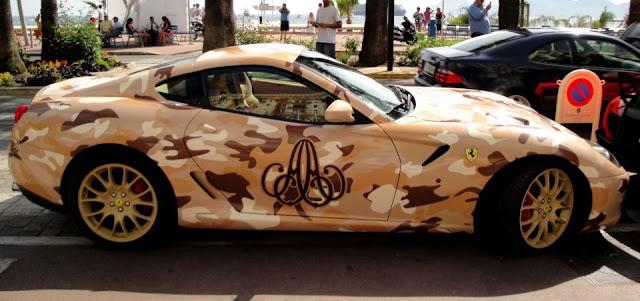 Ferrari 599 GTB Custom Camouflage |  Ferrari 599 GTB Custom Paint |  Ferrari 599 GTB Desert Camouflage
