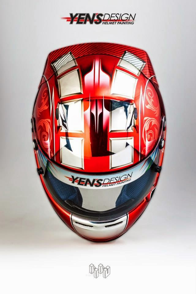 Race Car Helmet Painting