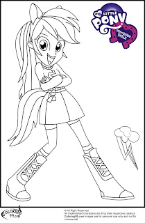 mlp equestria girl rainbow dash coloring pictures