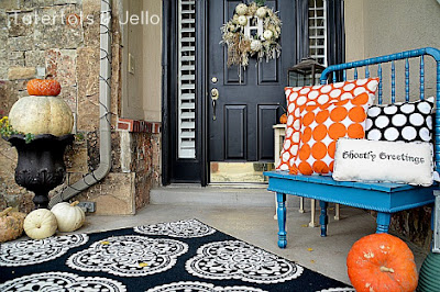 shabby chic modern halloween decor