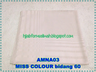 tudung MISS COLOUR bidang 60 plain