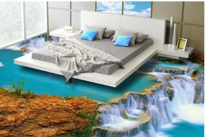 Lantai Kamar Tidur 3 Dimensi