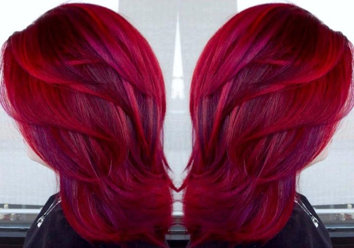stunning red hairstyles the haircut web. Black Bedroom Furniture Sets. Home Design Ideas