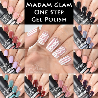 Madam Glam One Step Gel Polish Swatches and Review