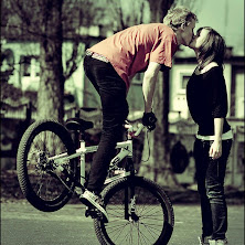 kiss, couple, cute, love, bicycle