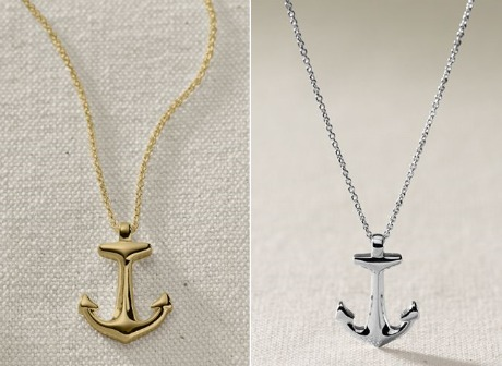 Navy Anchor Necklace5