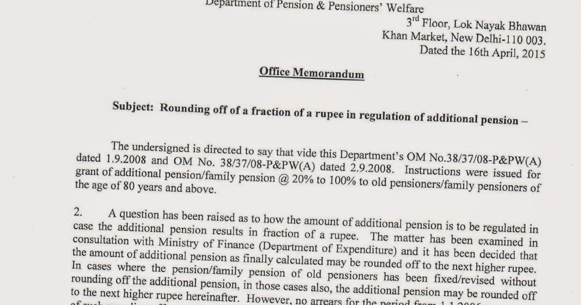 ... No arrears from 1.1.2006 | Central Government Employee News and Tools