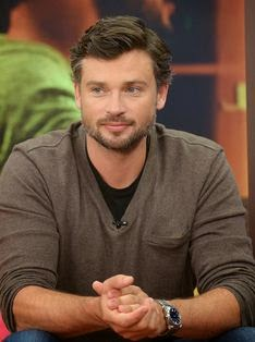 Tom Welling is on the set of Despierta America at Univision Headquarters in Miami on March, 25 (201