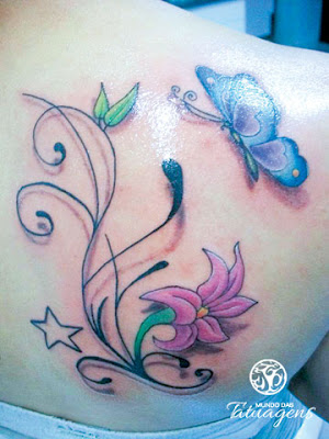 how to tattoo flores e borboletas nas costas