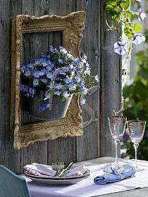 Letnie inspiracje stołu DIY Eco Manufaktura kwiaty w ramie