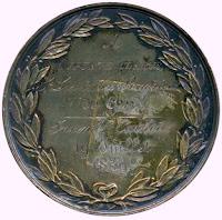 Medaille verleend aan de Gentse brandweerluitenant August Claeys n.a.v. de brand der Brugse St.-Salvatorskathedraal van 19 juli 1839