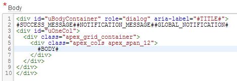 button in apex grid