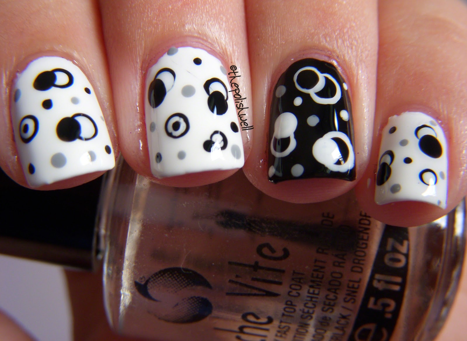 30 Black And White Nail Art Designs  London Beep