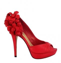 Zapato rojo para novias menbur