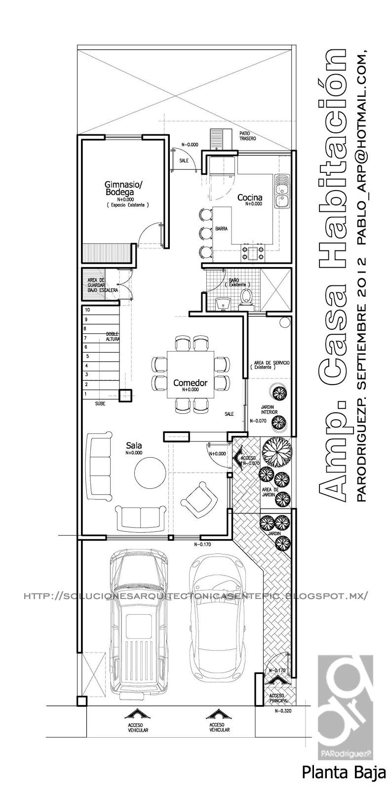 Soluciones arquitectonicas remodelaci n de casa for Que es una planta arquitectonica