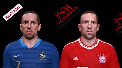 PES 2014 Franck RIBÉRY Face by K0H