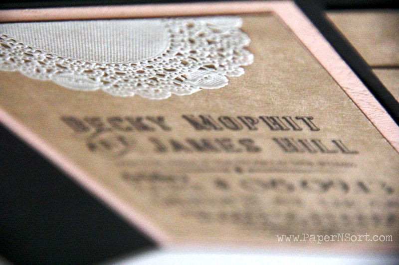 affordable rustic doily wedding invitation suite for barn/ shabby chic wedding