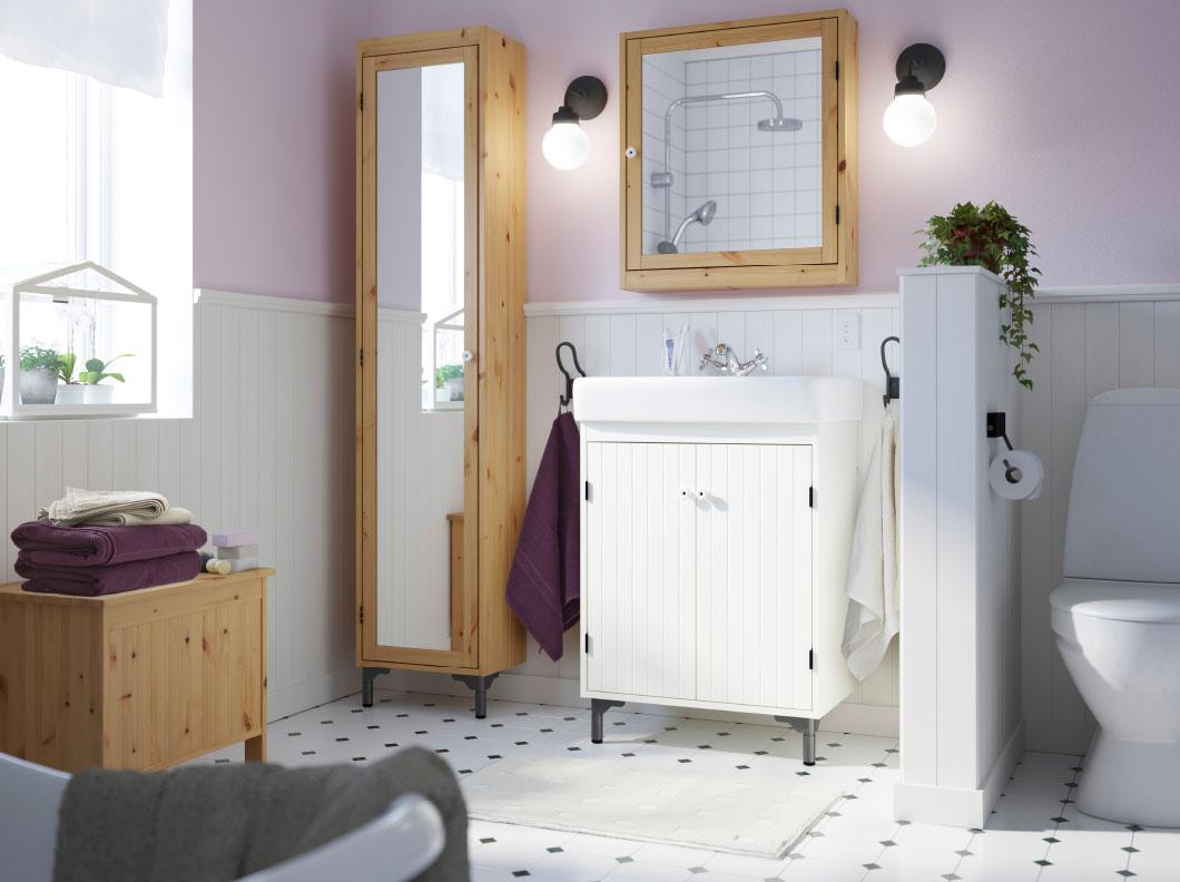 Casas de banho decoradas m veis ikea mundo ikea for Armarios pequenos baratos
