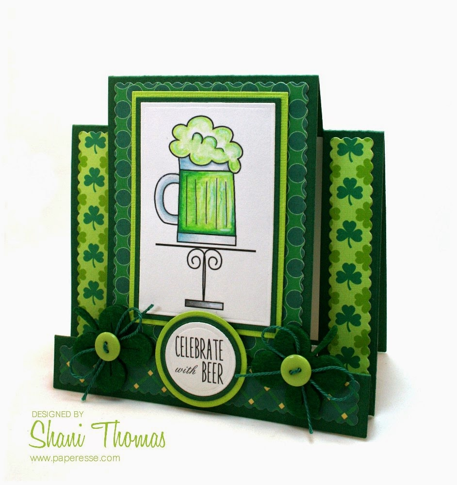 paperesse happy st patrick u0027s day and a green beer card