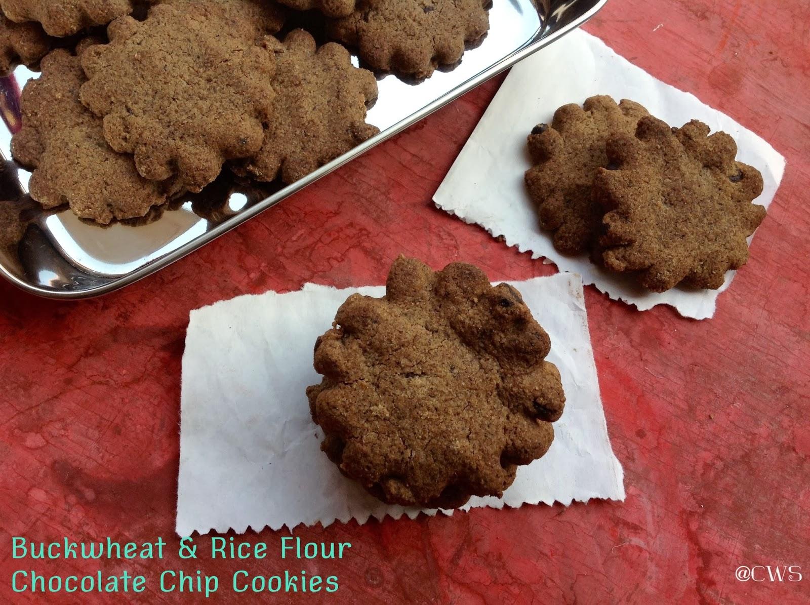 Buckwheat Choco Chip Cookies /Gluten Free Cookies - Cookingwithsapana