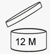 Simbolo validità prodotto cosmetico. Vasetto aperto con scritta 12 mesi