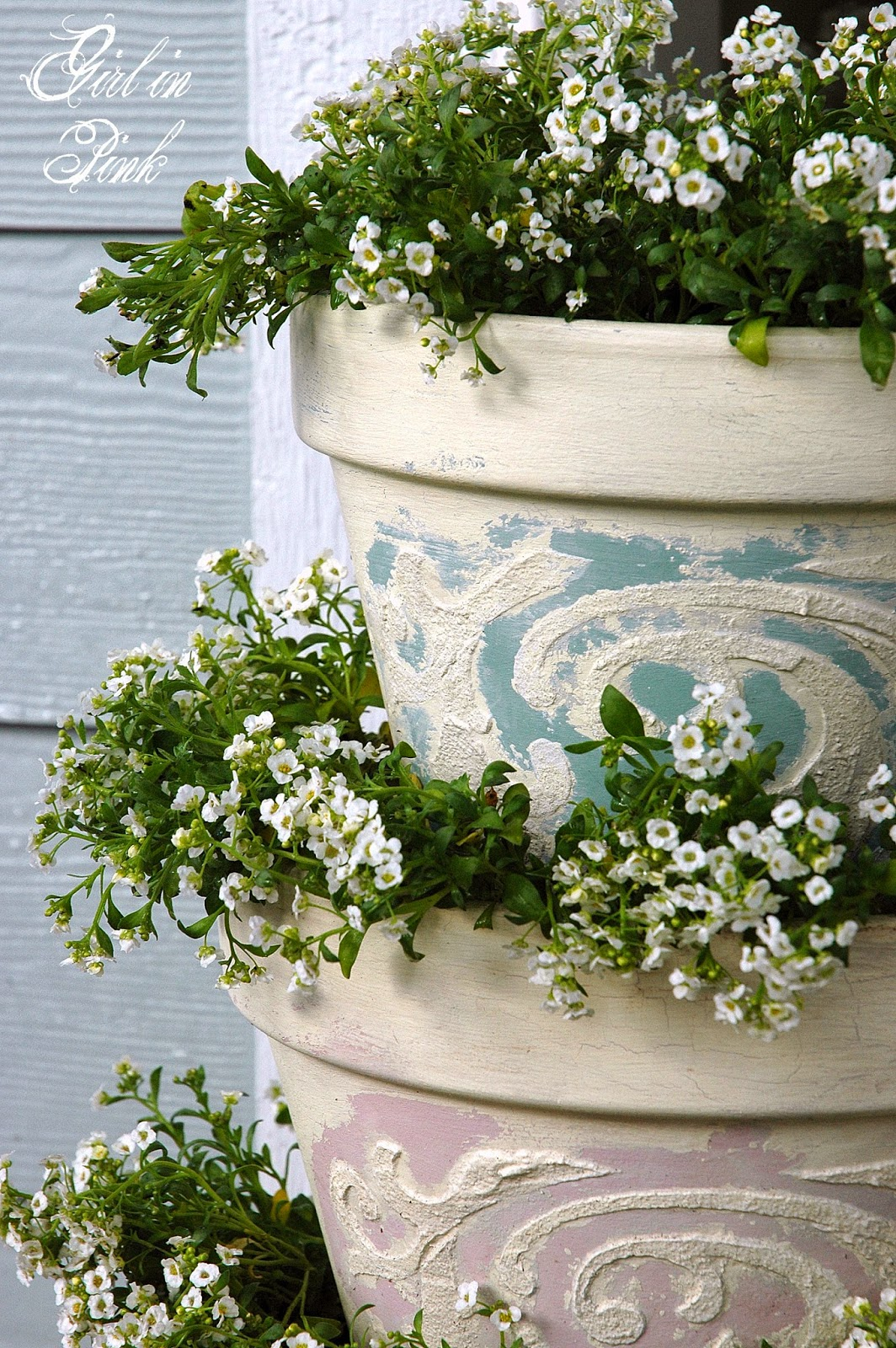 Girl In Pink How To Create Beautiful Finishes On Flower Pots And