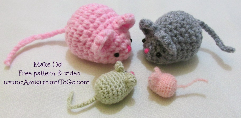 Crochet Pattern Free Mouse : Amigurumi Mouse Free Pattern and Video ~ Amigurumi To Go