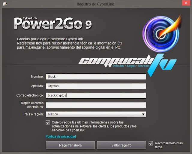 CyberLink Power2Go Español