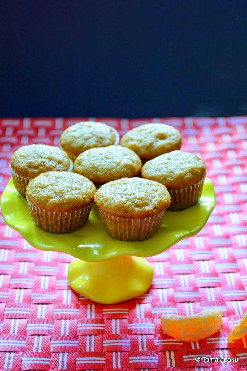 Eggless Cinnamon Orange Cupcake