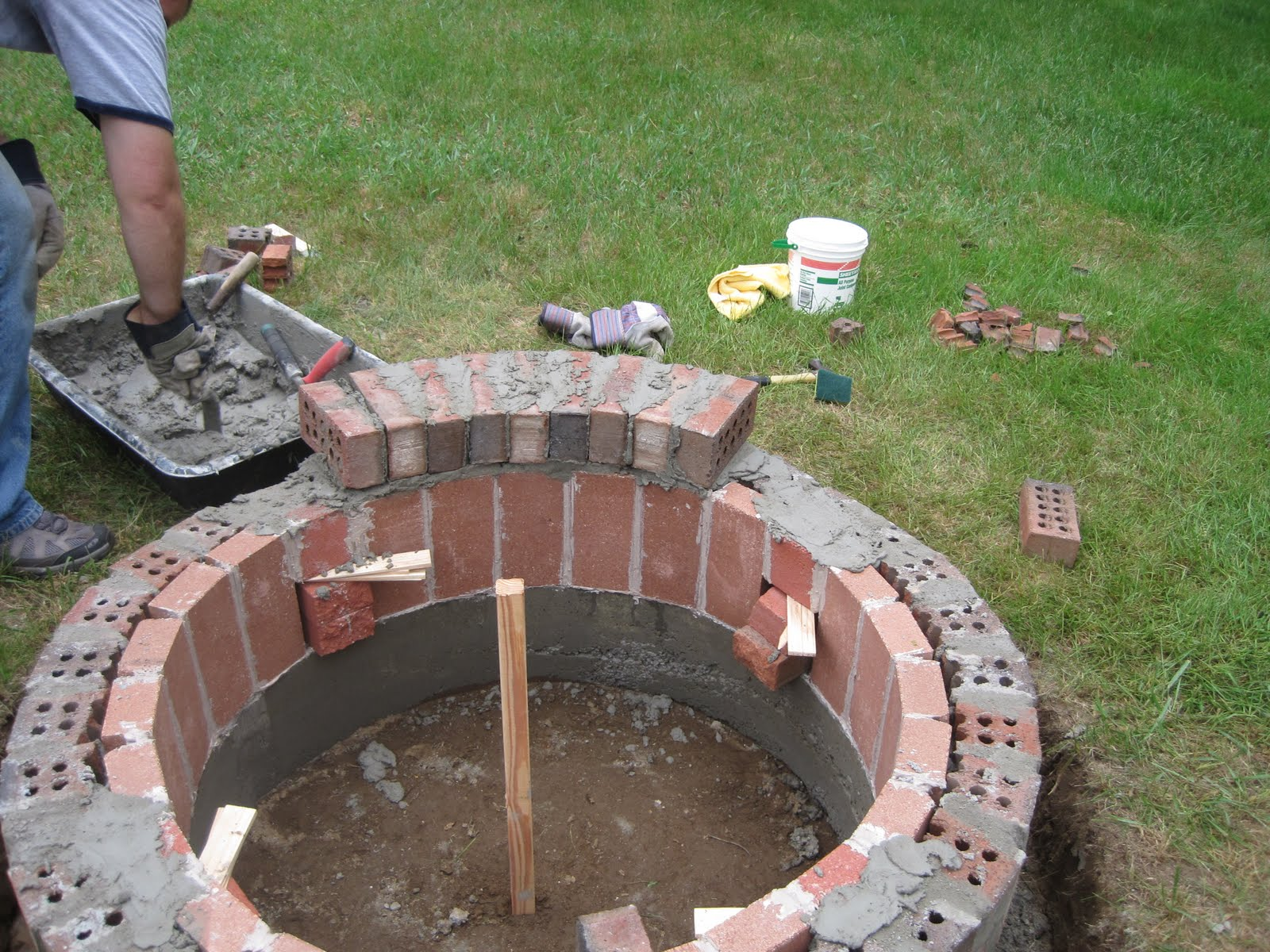 Jemstaa the fire pit project day 3 for Fire pit project