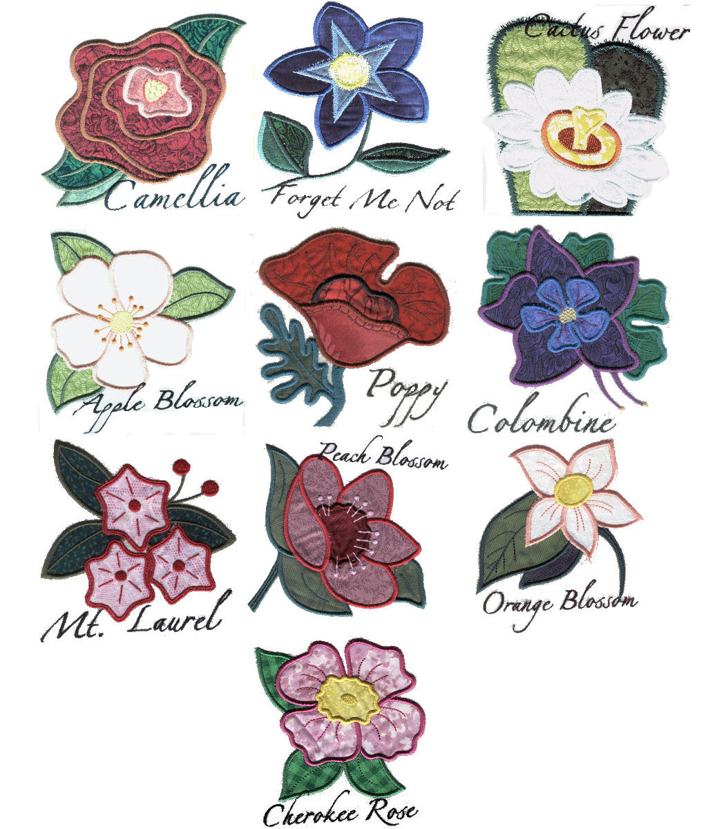Dreams free embroidery applique flowers