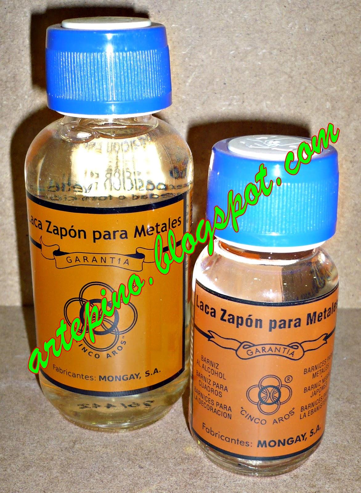 Materiales artepino - Laca para metales ...
