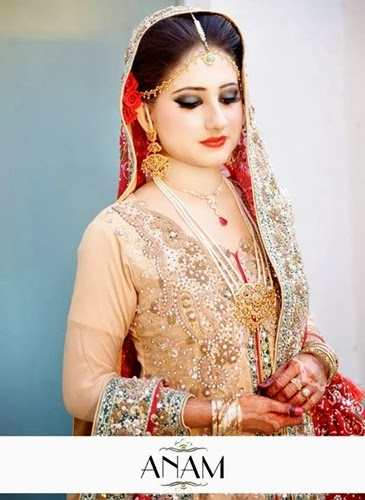 PakistaniBridalMakeupPictures2014 002 wwwshe stylesblogspotcom - Bridal Makeup Pictures 2014 by Anam.