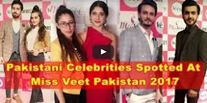 Pakistani Celebrities At Miss Veet Pakistan 2017