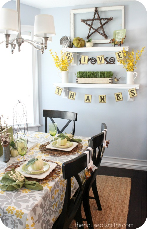 Thanksgiving decorating and crafts for the home