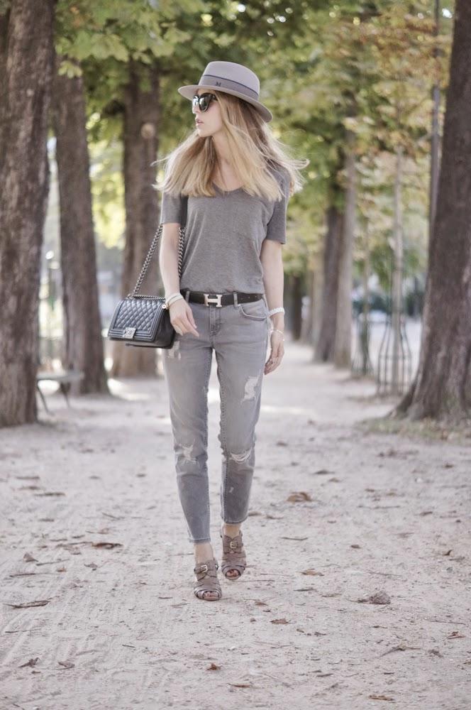 zara, boyfriend jeans, hermès, chanel boy, maison michel, look du jour, parisienne, streetstyle, outfit