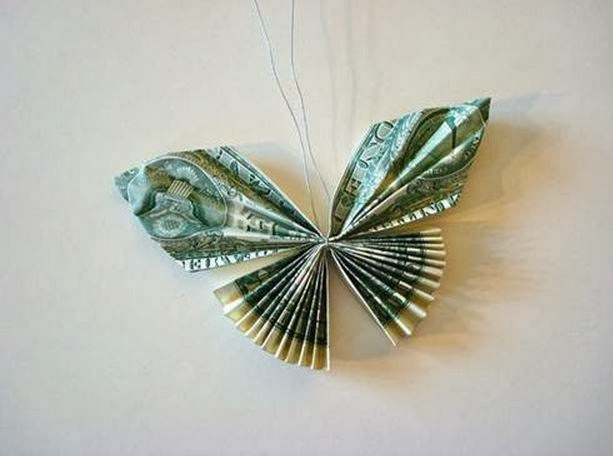 diy money butterfly origami the idea king