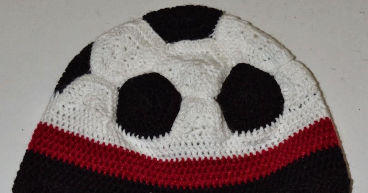 Crochet soccer ball hat pattern dt1010fo