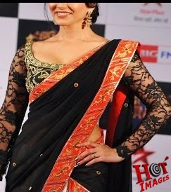 Sunny Leone Hot in Black Saree