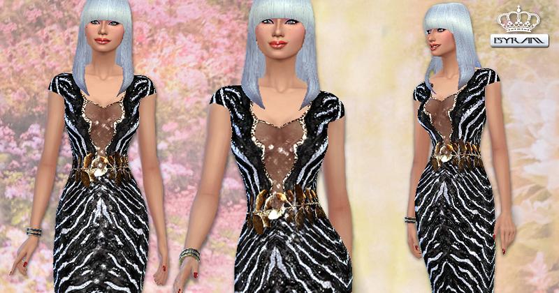 Zebra Print Evening Dresses 76