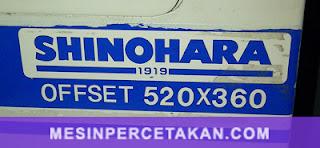 Shinohara 52 Offset | Size 52 x 36 cm