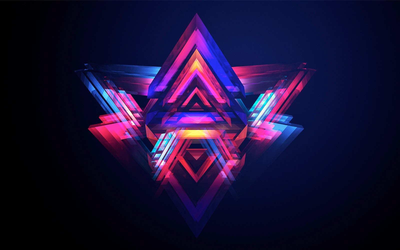 Abstract Pyramids Wallpapers